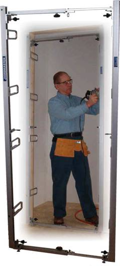 jambmaster door frame installation jig eliminates wedging